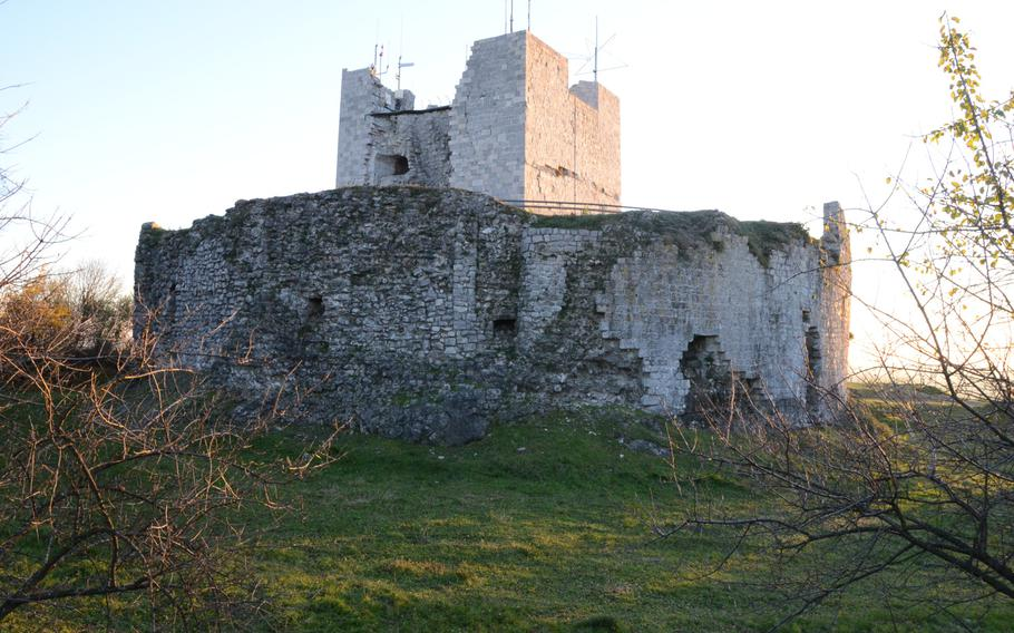 The fortress of Monfalcone, built in A.D. 490, sits above the once-walled city of Monfalcone, Italy, and is a symbol of the town.