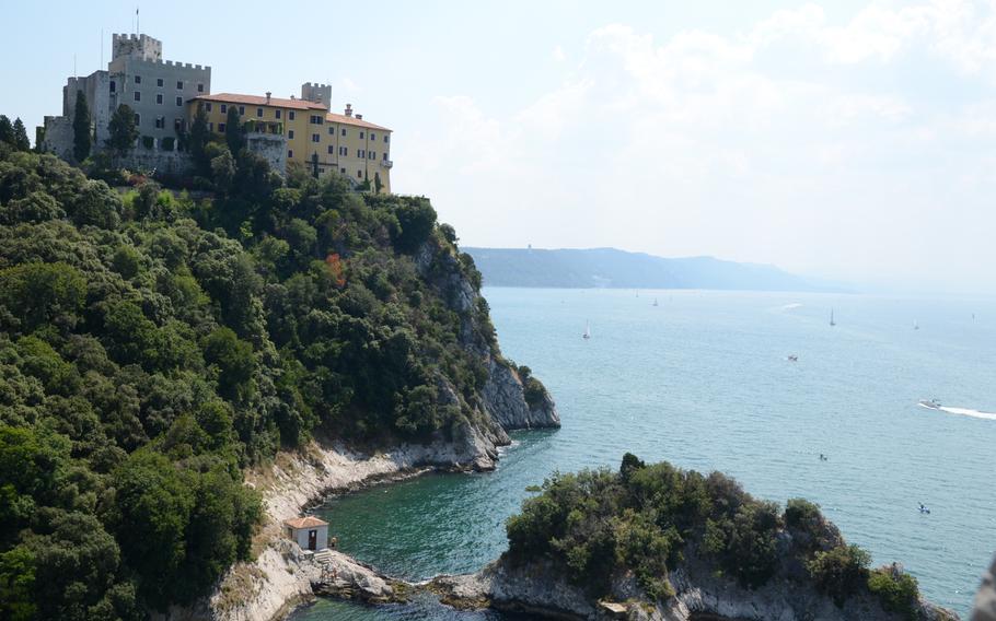 Castello di Duino sits above the Gulf of Treiste in northeastern Italy.