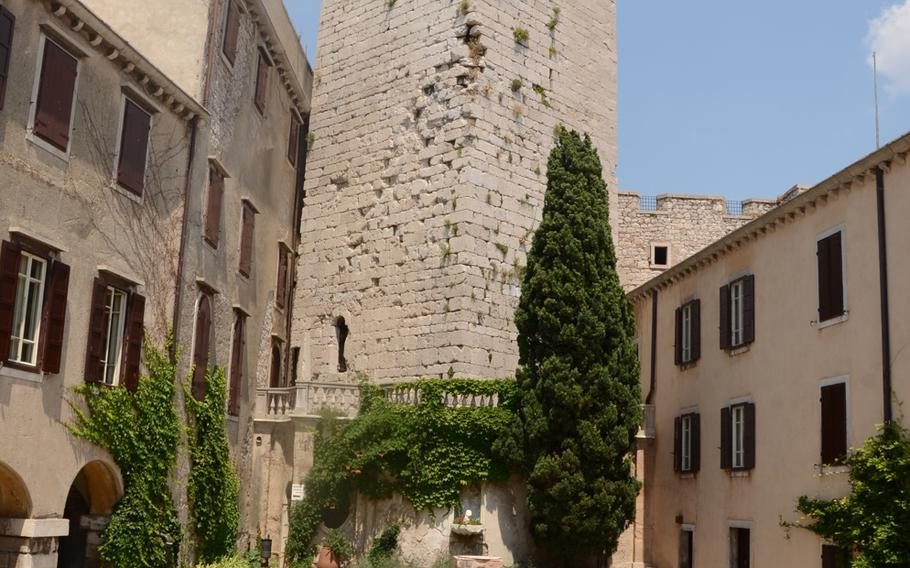 A view of the inner courtyard of Castello di Duino, which boasts a tower that has spectacular views of the Gulf of Trieste in northeastern Italy.