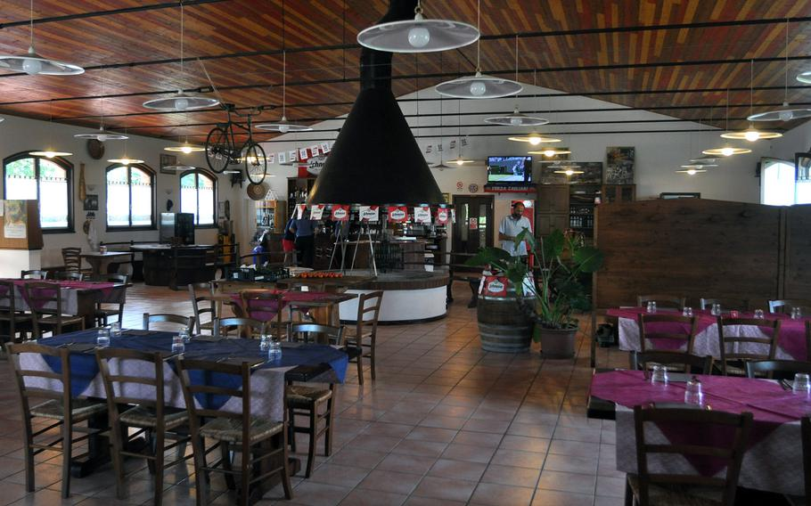 There's room for about 100 people to dine at once at Al Bronzetto, an restaurant just a few minutes from the front gate of Aviano Air Base, Italy.