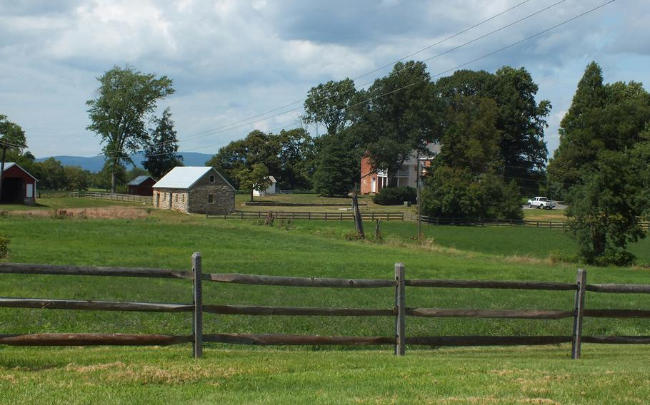 Buildings of the Thomas Farm, which was captured and recaptured by both sides in the Battle of Monocracy, July 9, 1864, near Frederick, Md.