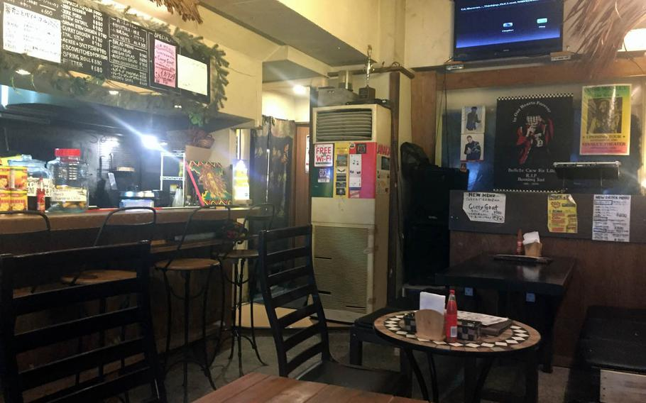Good Wood Terrace in Tokyo's Shibuya district features a cozy atmosphere and Reggae music.