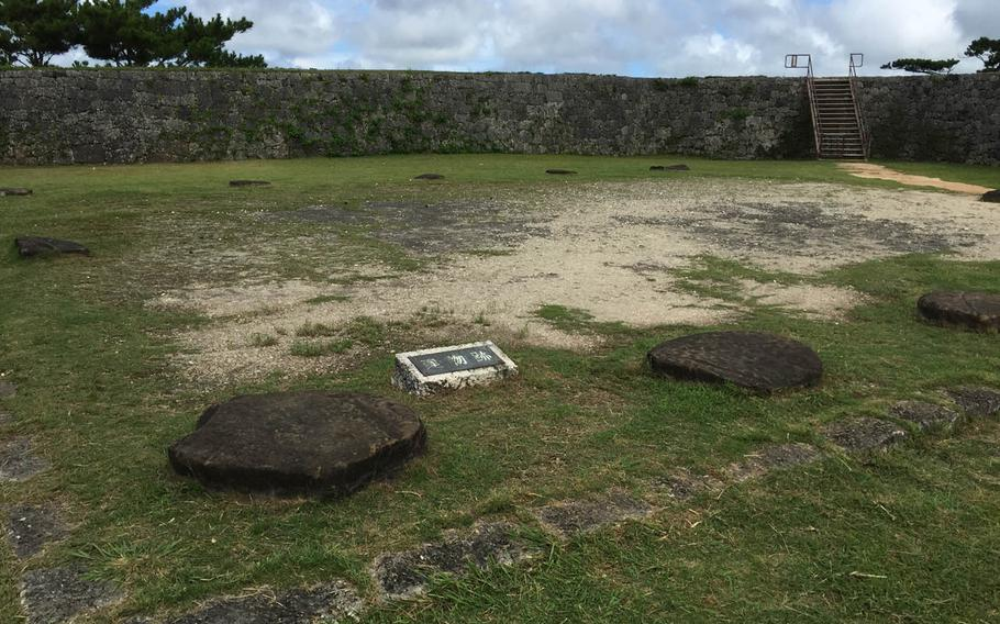 A building once stood on this patch at the pinnacle of the Zakimi-jo castle ruins in Yomitan, Okinawa. The ruins were home to Ryukyuan lords, Japanese imperial troops and later occupying U.S. military forces after World War II.