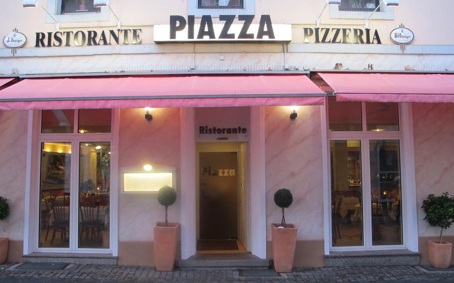 Pizzeria La Piazza in Kaiserslautern, Germany, is open for lunch and dinner seven days a week, differing from many of the area's Italian restaurants that close on Mondays and/or Tuesdays.