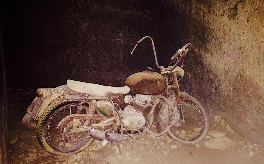 The Italian government seized motorcycles that were illegally modified and impounded them at the Bourbon Tunnel. It's unclear why the owners never retrieved them.