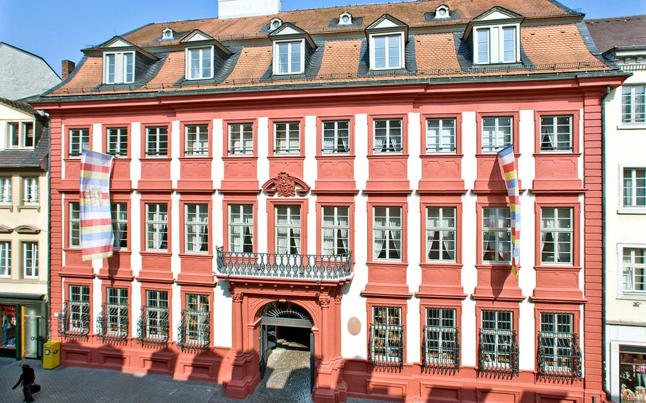 Heidelberg's Kurpfaelziches Museum stands in the center of the city's pedestrian area, and houses a wealth of historical artifacts. It is also hosting a temporary exhibition on the life and work of Beatle John Lennon through June 25, 2017.