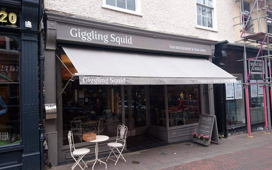 The front of the Giggling Squid restaurant in Bury St. Edmunds, Suffolk, Tuesday, May 2, 2017. There are 21 locations throughout the United Kingdom.
