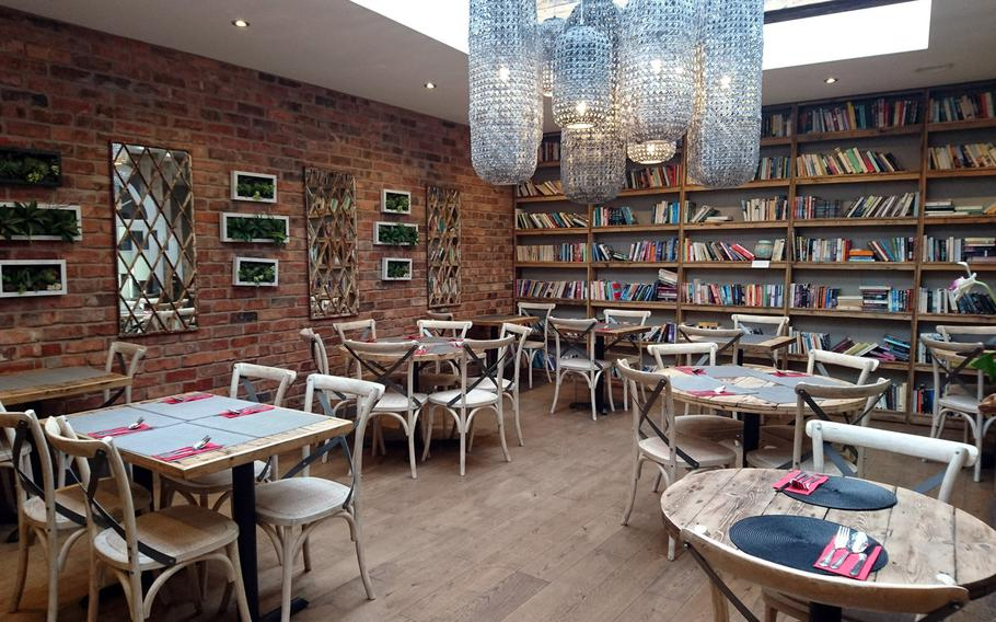 A dining area inside of the Giggling Squid in Bury St. Edmunds, Suffolk, Tuesday, May 2, 2017. The idea for the restaurant began in 2002 when the owners were in the basement of their tiny fisherman?s cottage in Brighton, England, making their first tapas menu.
