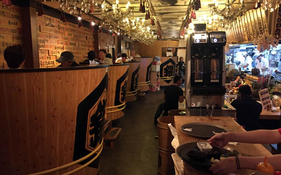 Ibushi Ginjiro is a popular Japanese izakaya in Okinawa City that's known just as much for its funky exterior and decor as it is for tasty and affordable pub fare.