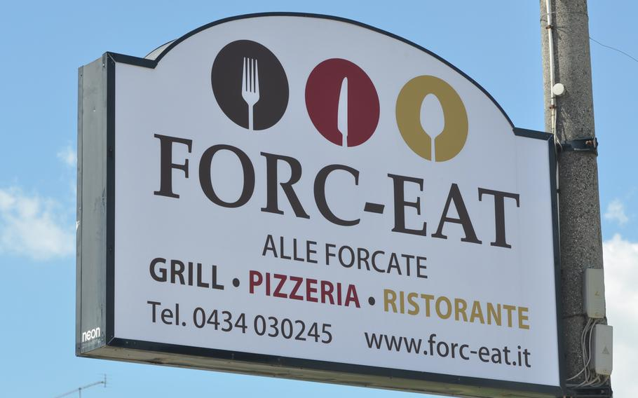 Forc-Eat is only a five-minute drive from the main gate at Aviano Air Base, Italy, and one of the few places someone can out for a weekday lunch in about an hour's time.