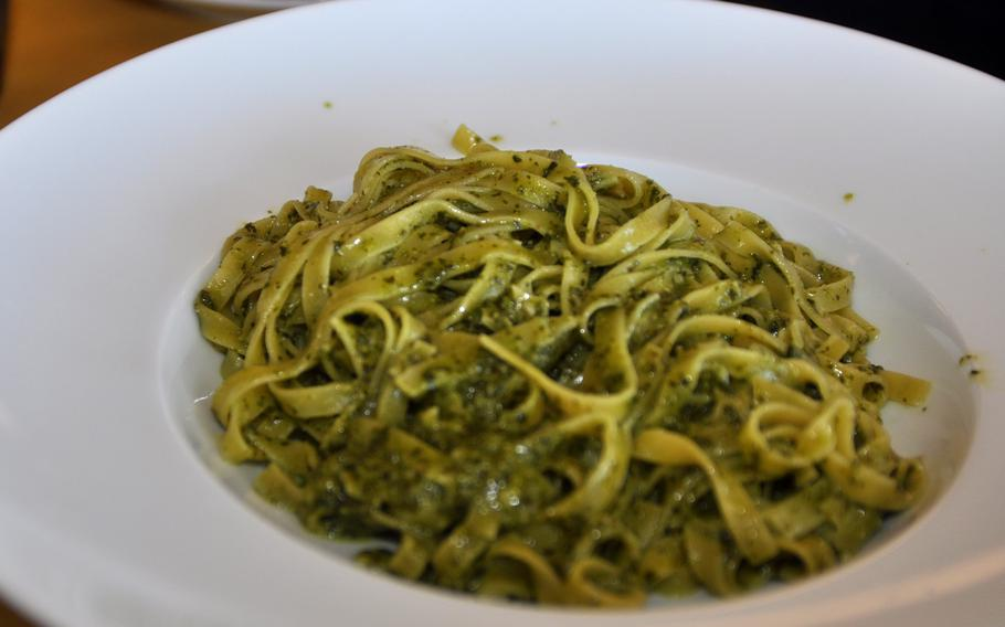 This pasta dish of tagliatelle noodles, arugula and peccorino cheese was a first-course option during a recent visit to Forc-Eat, a restaurant just a few minutes' drive from the front gates of Aviano Air Base, Italy.