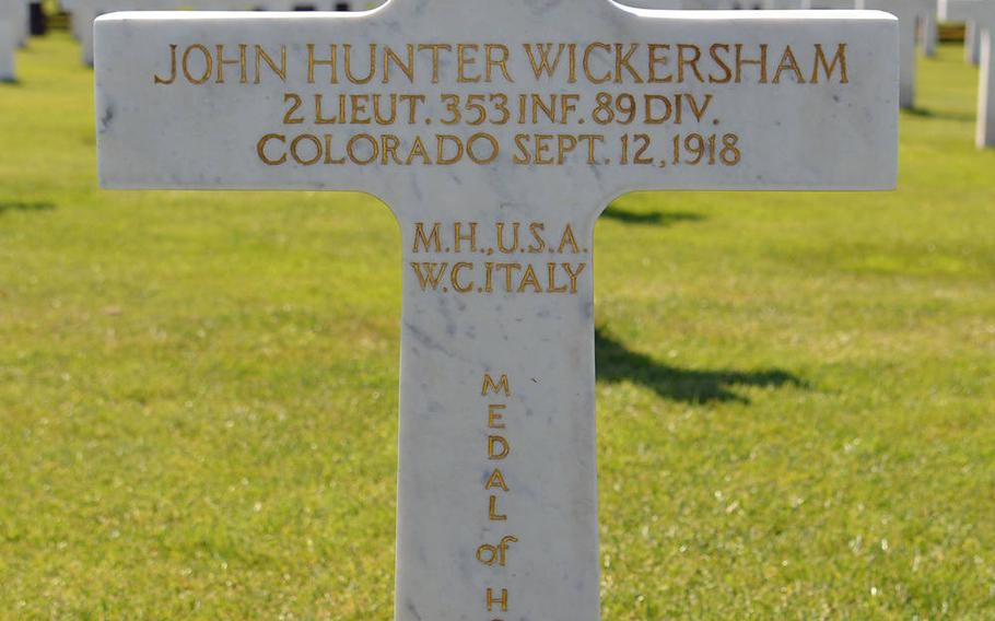 2nd Lt. John Hunter Wickersham is the only Medal of Honor recipient buried at St. Mihiel American Cemetery.