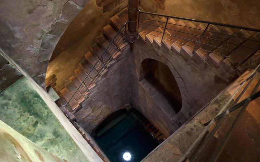 The Judenbad, or Jews' Bath, in Friedberg, Germany, is a mikweh, a ritual bath. It dates back to the 13th century and is one of the few preserved medieval mikwehs in Europe. Steep stairs lead down to the bath, about 80 feet below the surface.