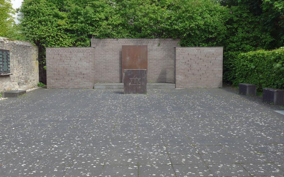 Synagogenplatz in Friedberg, Germany. Here once stood the Jewish synagogue, destroyed by the Nazis in 1938/39. It probably dated back to the 13th century, the first time there was a Jewish community in the city.