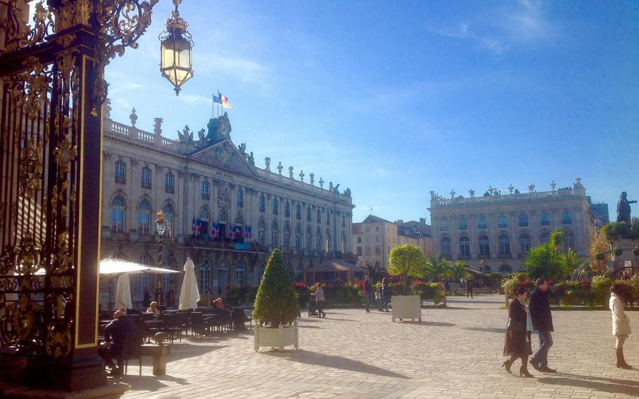 Nancy's City Hall (left) is located on Place Stanislas, considered one of the most beautiful and ornate squares in the world.
