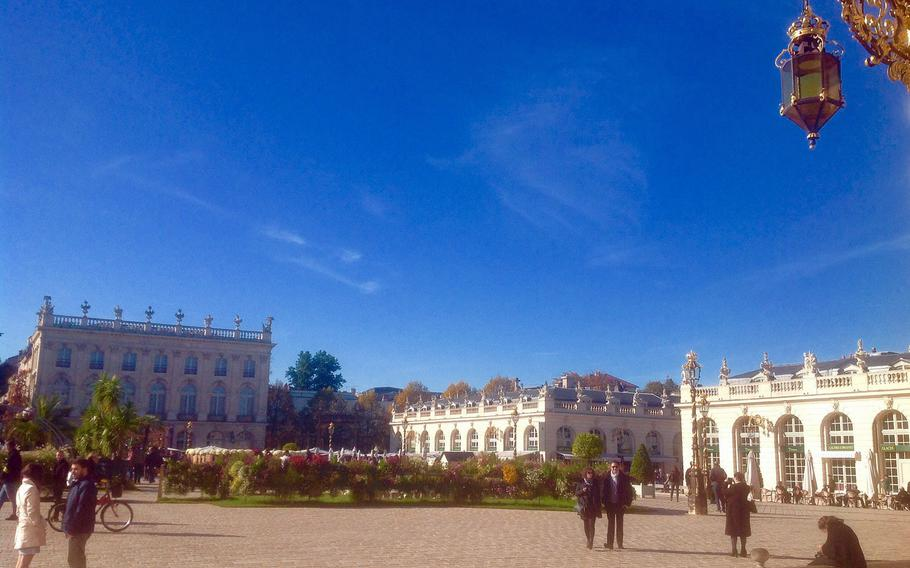 Another view of Nancy's famous Place Stanislas, with the Fine Arts Museum at the far end.