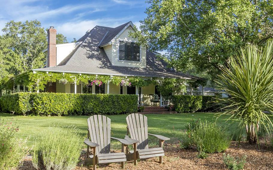 """Brambleberry is a beautiful three-acre estate in Sonoma, California wine country. The vacation rental is one of six that Frommers is offering to families of retired military members for a free five-night stay through its """"6 for 60"""" contest."""