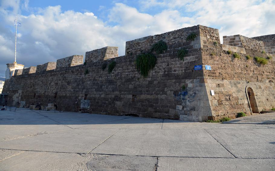 The ramparts of the 17th century Firka fortress guards the entrance to Chania, Crete's Old Harbor. Today it houses the Maritime Museum of Crete.