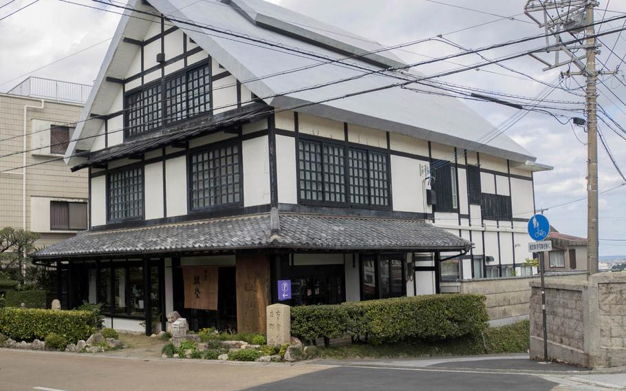 Shuri Ryusen, a dye workshop, cafe and art gallery, is open to the public on land where a gate to the Ryukyu Kingdom once stood on Okinawa.