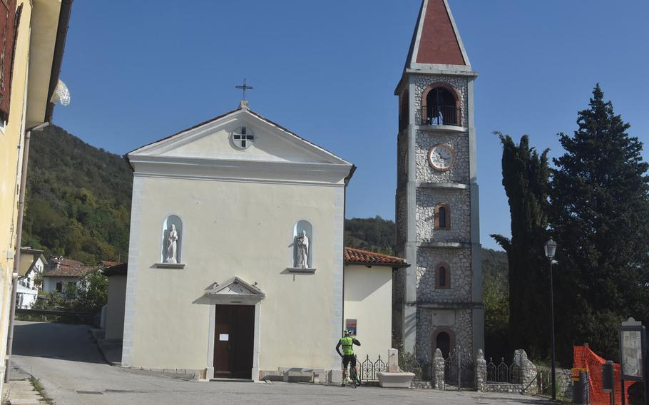 St. Antony's the Abbot's church is the center of Mezzomonte, Italy, a small hamlet that fits its name (middle mountain) well. Those looking for things to do there will likely be disappointed, though.