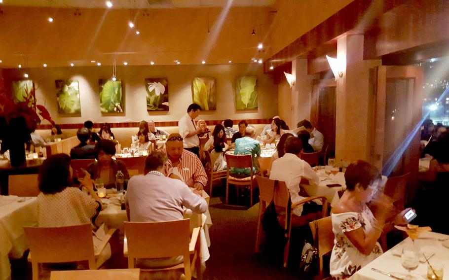 Saturday night dining at Alan Wong's, a Honolulu restaurant that has exemplified Hawaii regional cuisine since opening two decades ago.