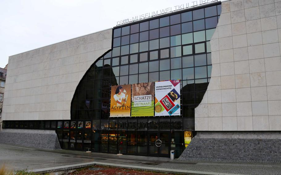 The World Cultures Museum in Mannheim, Germany on Jan. 6, 2018. The Museum is the home of the exhibit ''Egypt: Land of Immortality.''