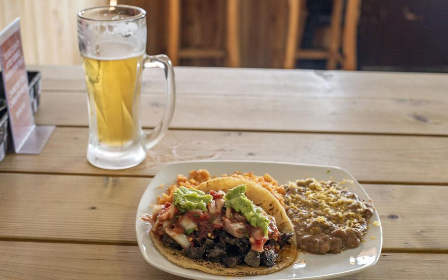 The carne asada tacos at Rib House Bar and Grill in Iwakuni, Japan, are the brain child of California native Phil Azevedo who settled in Iwakuni after leaving the Marine Corps.