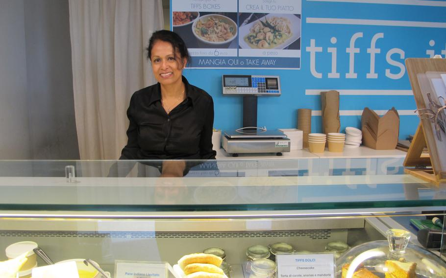 Tiffs' chef-owner, Mahjabeen Ameen was born in Bangladesh and reared and educated in London. She incorporates some family recipes in her dishes.