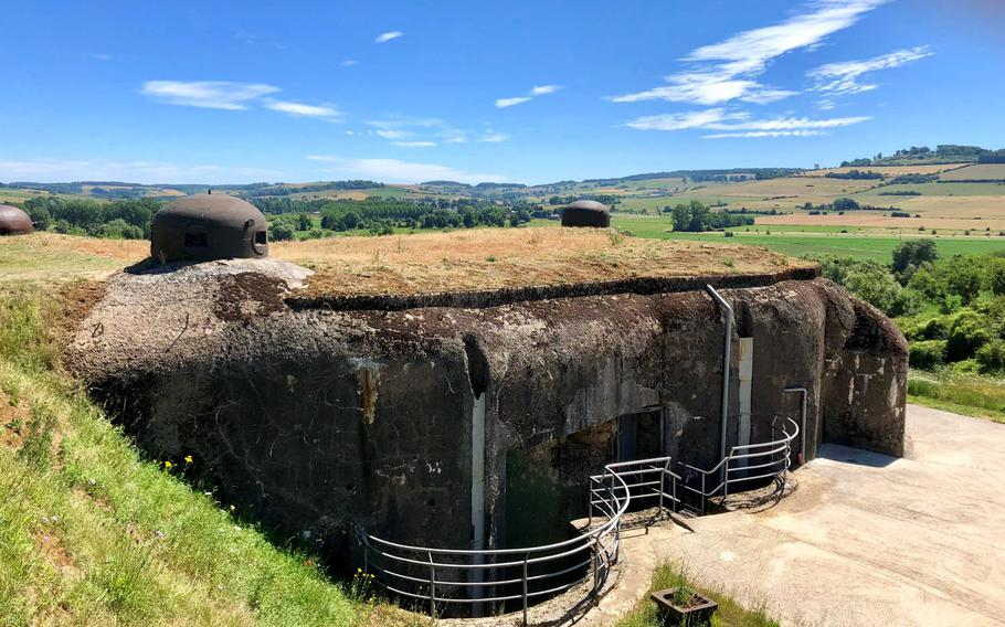 One of the two combat blocks of La Ferte-sur-Chiers near Sedan, France. The fort, located at the northern end of the line, was the smallest and weakest of the fortifications, and the only one occupied by the Germans during the fall of France in 1940.