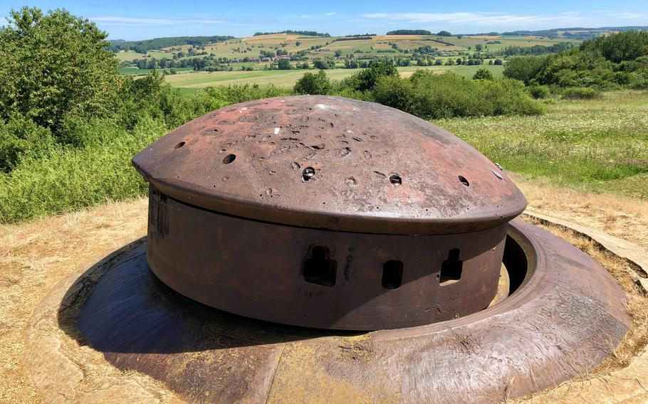 A destroyed cupola at the fort of La Ferte, the only part of the Maginot Line of fortifications that the German army succeeded in occupying in 1940. Once its supporting infantry had withdrawn, the attackers flanked the little fort and approached it from behind under intense fire.