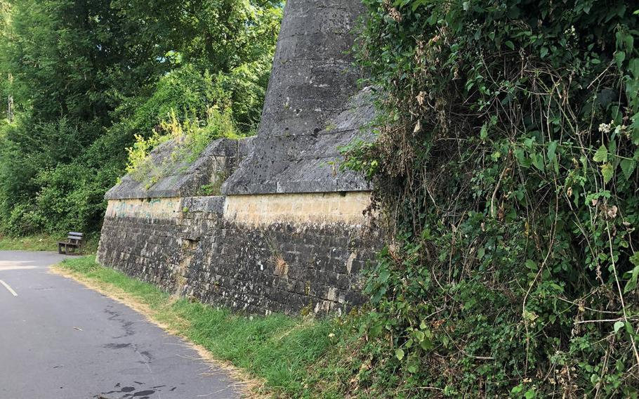 A French bunker on the Meuse river on the outskirts of Sedan, where in 1940 German troops crossed the river under heavy fire and broke through the defensive line. The river-crossing was the first state of a Blitzkrieg offensive that  took Nazi forces to the English Channel, cutting off a million British, French, Belgian and Dutch troops.