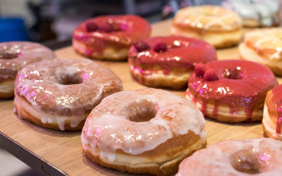 Dumbo Doughnuts and Coffee, which has shops in Tokyo and Yokohama, boasts a revolving roster of quirky flavors.