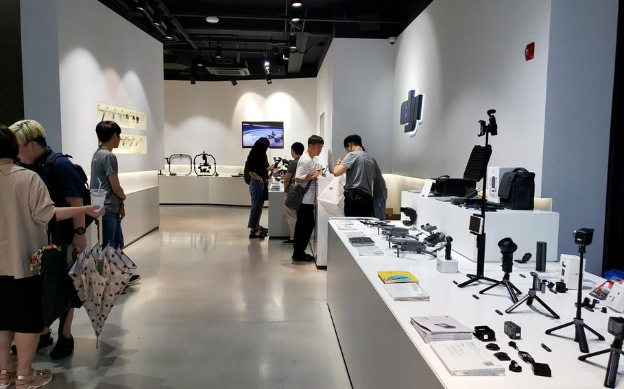 The DJI Korea Flagship Store in Seoul is just one of five locations in the world where you can try out the latest consumer drone technology.