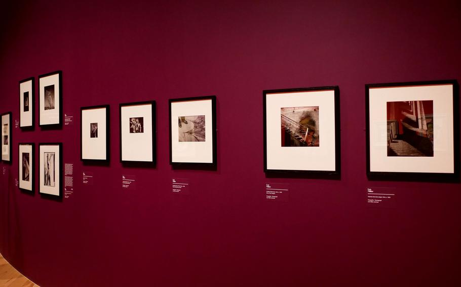 """Photographs by American photographer Lee Miller, on display in the exhibit """"Fantastic Women"""" at the Schirn in Frankfurt, Germany. The exhibit runs through July 5."""