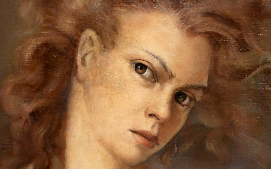 """A closeup of Leonor Finia's """"Self-Portrait,"""" on display in """"Fantastic Women,"""" the new exhibit at the Schirn in Frankfurt, Germany, that runs until May 24."""