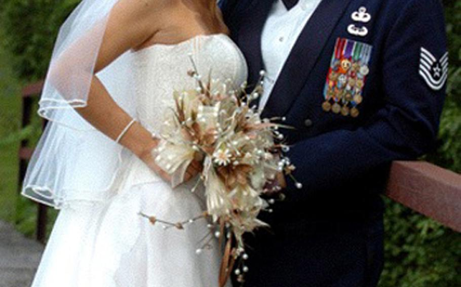 Air Force Tech. Sgt. Israel Del Toro and his wife, Carmen, finally had the church wedding and reception of their dreams in August 2009, four years after a roadside bomb almost killed Del Toro, burning over 80 percent of his body, and seven years after they tied the knot in a civil ceremony. In February, Del Toro became the first airman to re-enlist with a 100 percent combat medical disability.