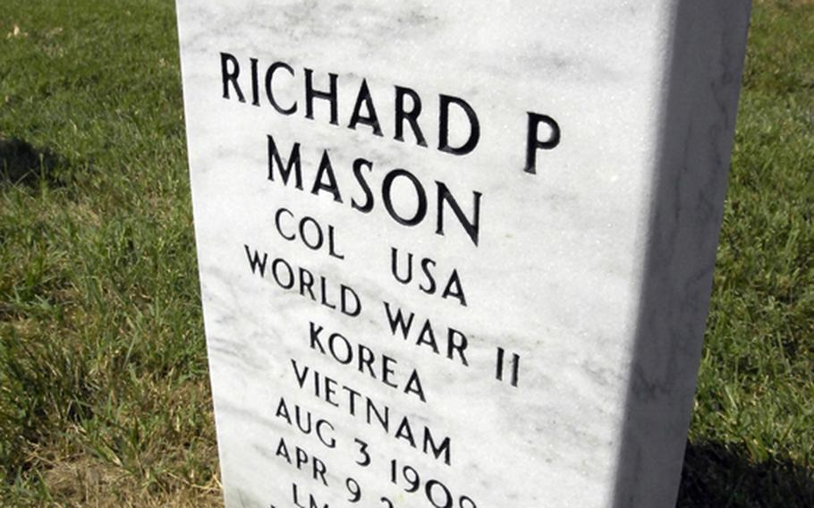 The emblem on an atheist servicemember's grave marker at Arlington cemetery depicts an atom, symbolizing atheists' belief in science and the natural world.