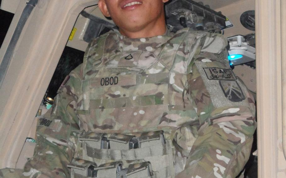 Pfc. Alberto L. Obod Jr., 26, of Orlando, Fla., died Sunday of injuries sustained in a vehicle roll-over, the DOD said in a press release. He was assigned to the 391st Combat Sustainment Support Battalion, 16th Sustainment Brigade, 21st Theater Sustainment Command.