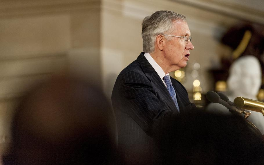 Senate Majority Leader Harry Reid (D-Nev.) speaks at the U.S. Capitol in Washington, D.C., on Sept. 10, 2013.