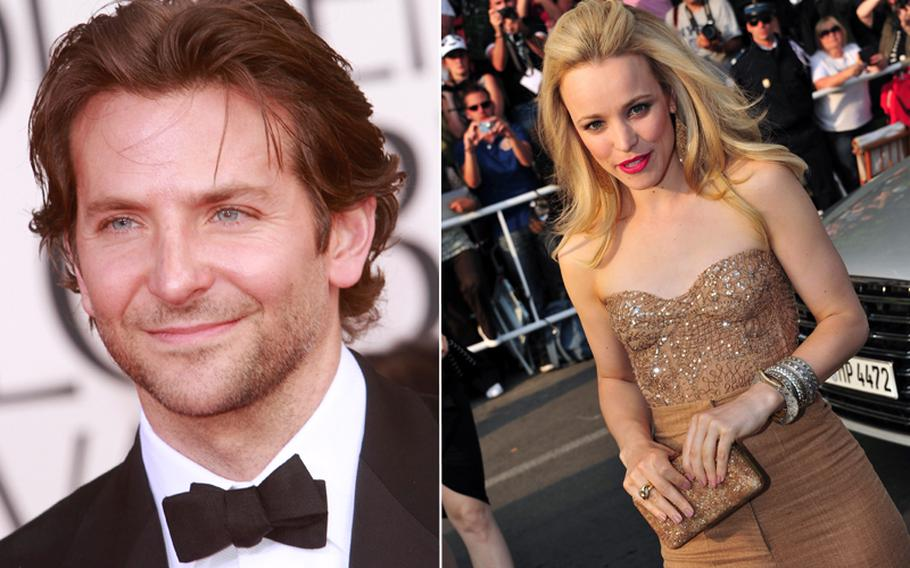 Bradley Cooper and Rachel McAdams. The Pentagon's Joint POW/MIA Accounting Command found time earlier in November 2013 to allow a Hollywood movie to shoot scenes for a movie starring the pair, according to a report on MSNBC.