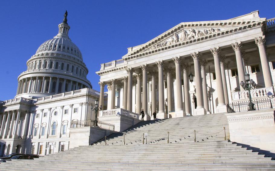 The U.S. Senate side of the Capitol.