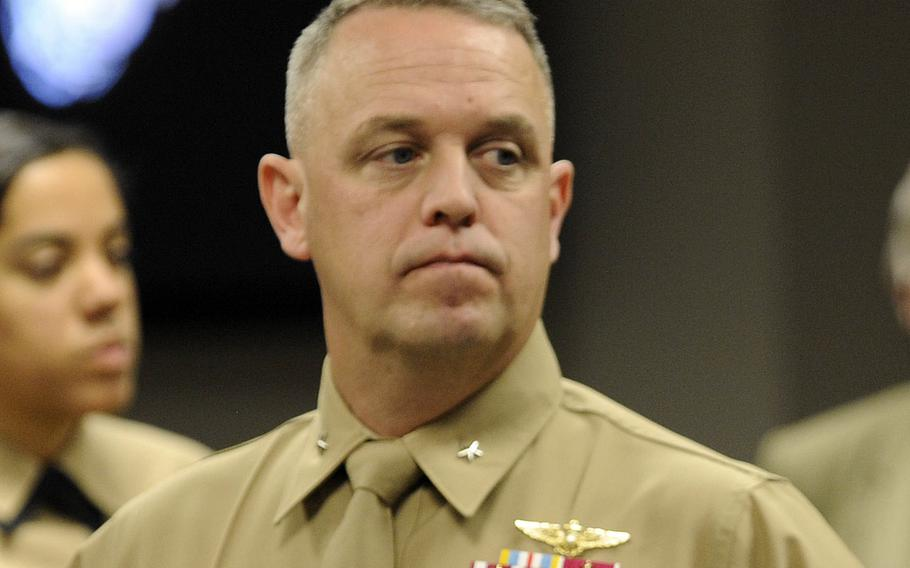 """Brig. Gen. Kevin Killea attends a ceremony in Arlington, Va., in November 2013. Responding to reports of rebel fighters in Syria being captured, Killea said on Friday, July 31, 2015, that they """"had nothing to do with the new Syrian fighters who were trained and equipped,"""" by U.S. forces."""