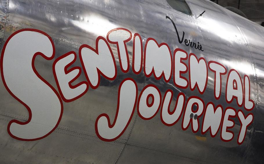 Aircraft art on a B-29 Superfortress at the Pima Air and Space Museum in Tucson, Arizona.