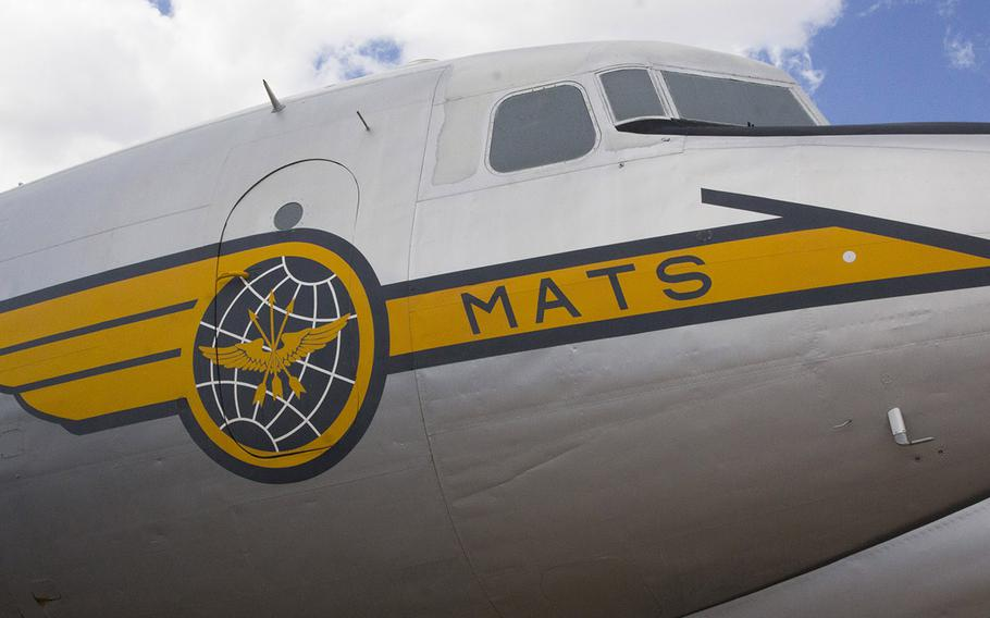 Aircraft art on a Douglas C-54D Skymaster at the Pima Air and Space Museum in Tucson, Arizona. This plane was used in te Berlin Airlift in 1949.