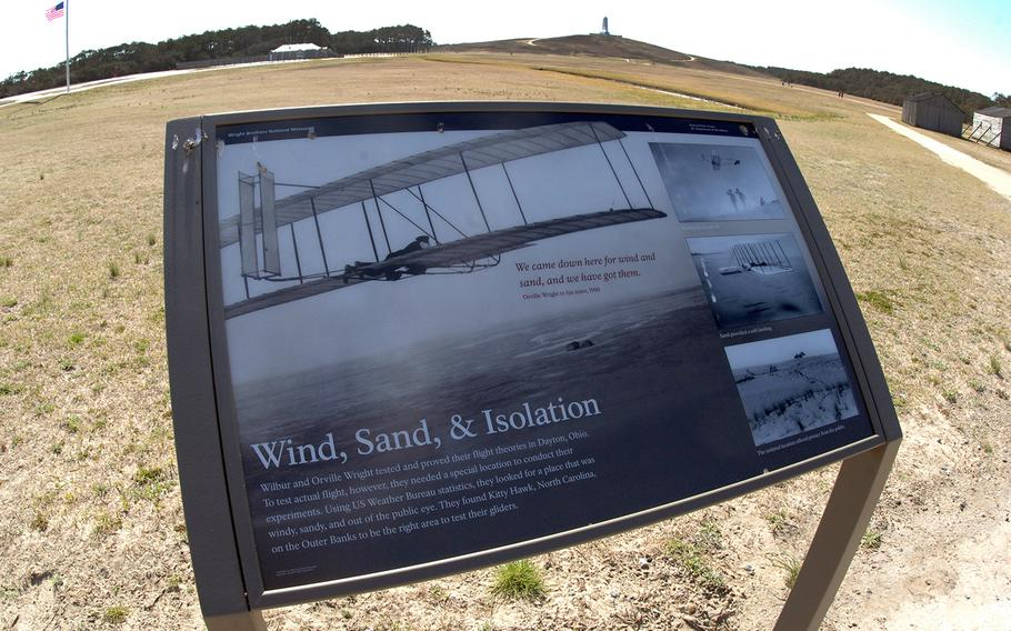 The Wright Brothers National Memorial in Kitty Hawk, N.C.
