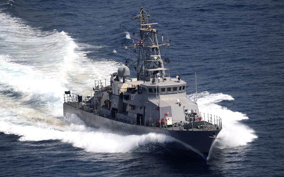 A 2011 file photo of the coastal patrol ship USS Firebolt during an exercise in the Persian Gulf.