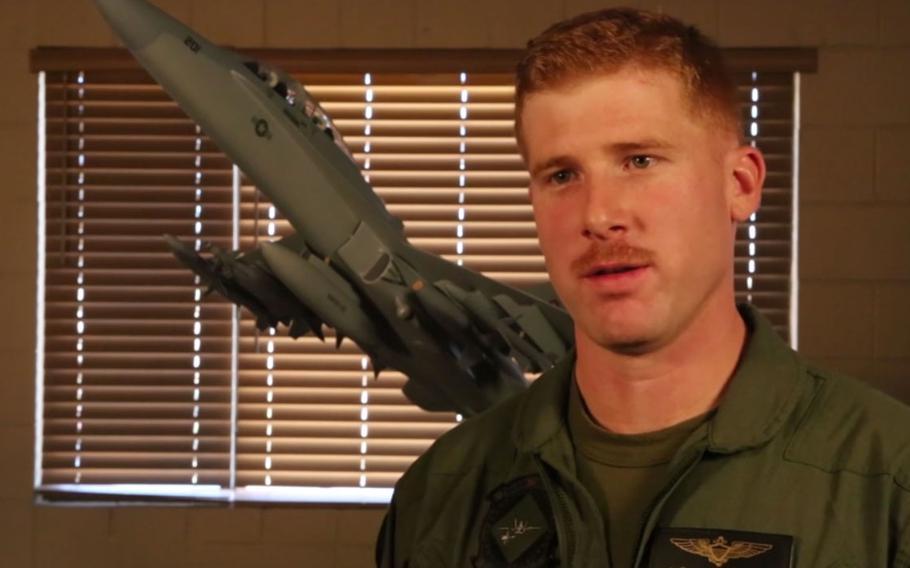 U.S. Marine Corps F/A-18C pilot Capt. Jake Frederick on Nov. 27, 2013.