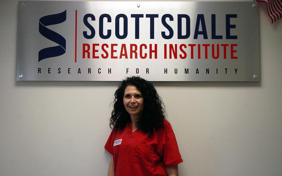 Sue Sisley pictured inside Scottsdale Resarch Institute in Phoenix, the site of a groundbreaking study into marijuana's effects on veterans with PTSD, on Tuesday, May 2, 2017. Sisley is a psychiatrist known nationally as an advocate of medical marijuana research.