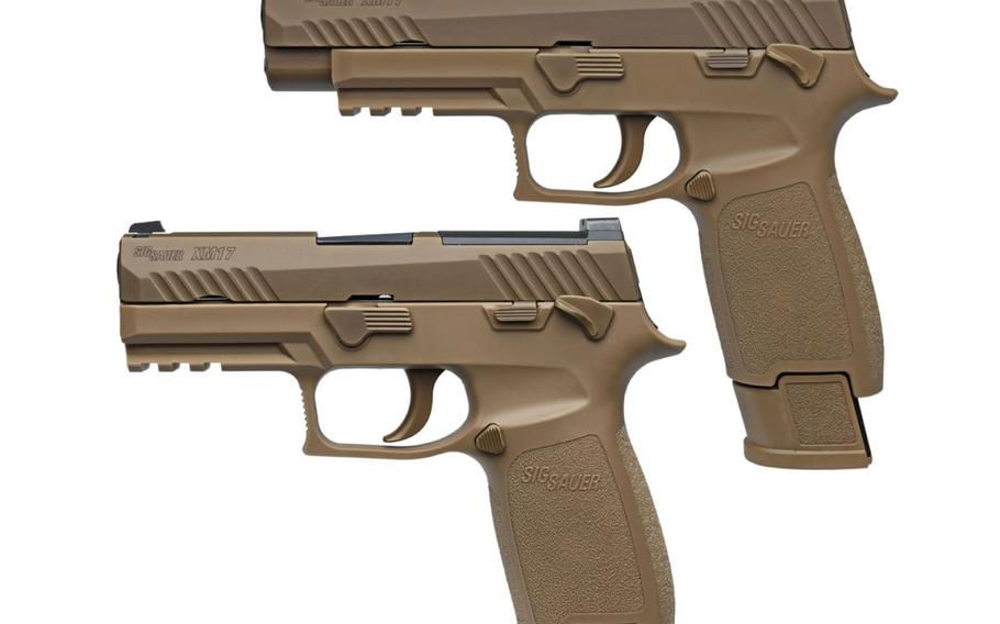 Sig Sauer's P320 will be the model for the Army's standard sidearm for the next decade, replacing the Beretta USA-made M9 9-millimeter pistol.