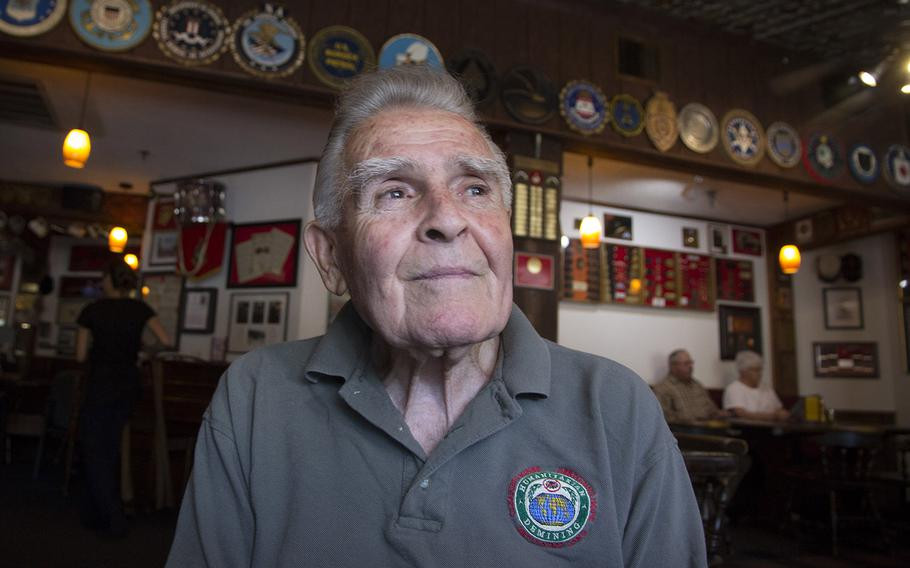 Retired U.S. Marine Corps Maj. John Fasulo at the Marine-themed Globe and Laurel Restaurant in Stafford, Va., in June, 2017.